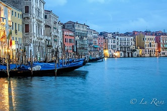 Sunset at Grand Canal, Italy