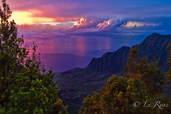Sunset in Kauai, Hawaii