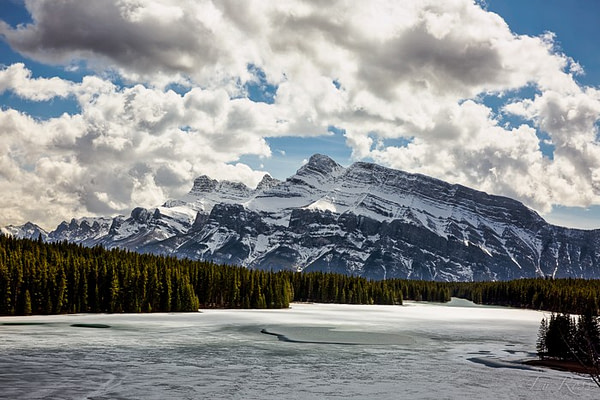 Two Jack Lake, in Banff National Park, Canada